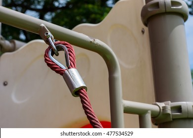 Sling ropes on playground.