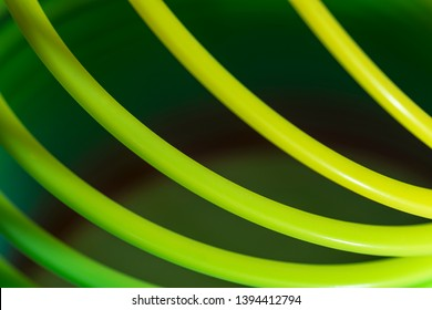 Slinky Toy Green Colored Lines Abstract