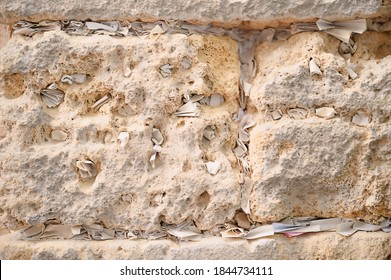 Slips of paper containing written prayers placing  in the cracks and crevices of the Wailing Wall or Western Wall in old part of Jerusalem city