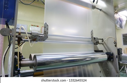 Slitting blade slit PE Plastic Film  close up