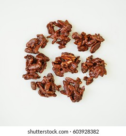 Slivered almonds covered with French dark chocolate