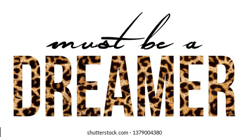 Slogan Fashion Print .Dreamer pirnt vector