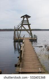 Slokas lake in Latvia