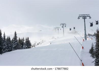 Slope in Jasna Ski Resort, Slovakia