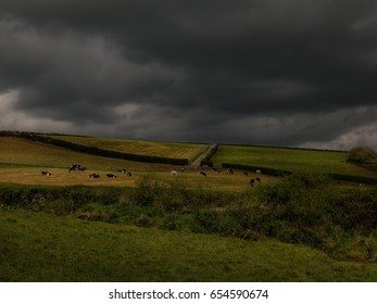 Slopes of Mattock valley/Under Heavy Clouds/End of May, Mattock Valley, Co. Meath, Ireland