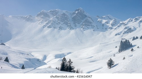 Slopes on the skiing resort
