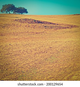 Sloping Hills of Portugal in the Autumn, Instagram Effect