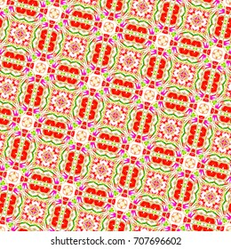 Sloping seamless colorful pattern for design and backgrounds