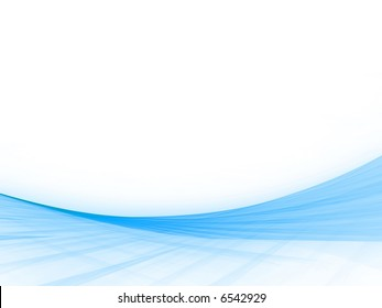 Sloping, woven blues with copyspace (computer generated, fractal abstract background)