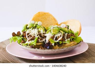 Sloppy Joe Sandwich with avocado and cheese