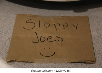 A Sloppy Joe Sign with a Smile