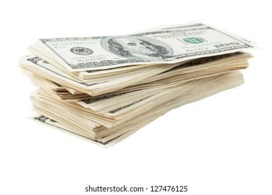 Sloppy pile of dollars