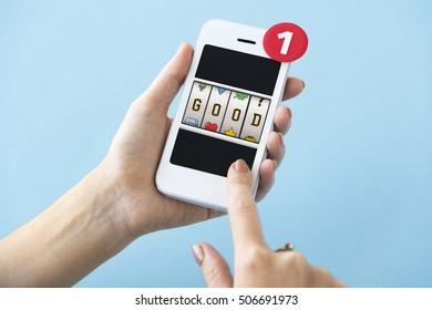 Slot Bingo Words Graphic Concept