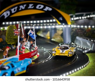 Slot cars Illustrative editorial essex Uk