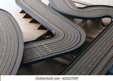 Slot racing track