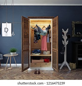 sloth in the home closet.  photo and media creative mixed