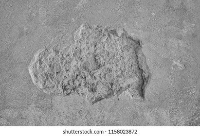 Slough of cement wall. Gray concrete texture