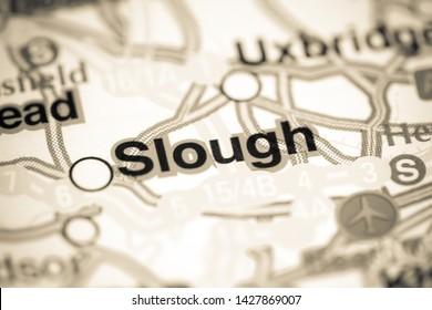 Slough. United Kingdom on a map