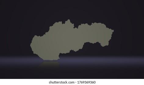 Slovak map, 3d map, 3d image, 3D picture, 3D rendering