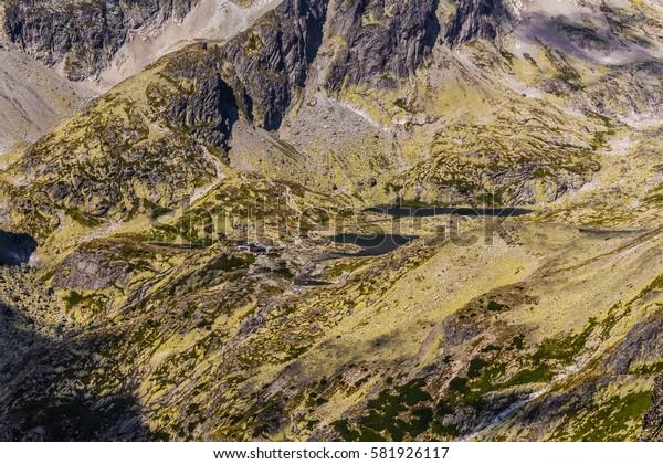 Slovak Tatra mountains. Mountain scenery.