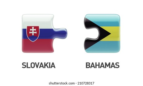 Slovakia Bahamas High Resolution Puzzle Concept