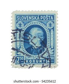 SLOVAKIA - CIRCA 1943: A stamp printed in Slovakia showing Vojtech Tuka circa 1943