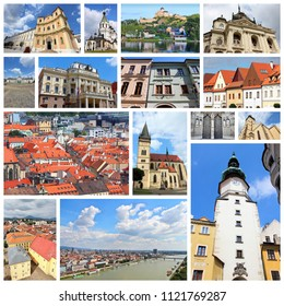 Slovakia collage - photos with travel places including Bratislava, Kosice, Trencin, Presov and Bardejov.