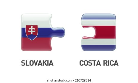 Slovakia Costa Rica High Resolution Puzzle Concept