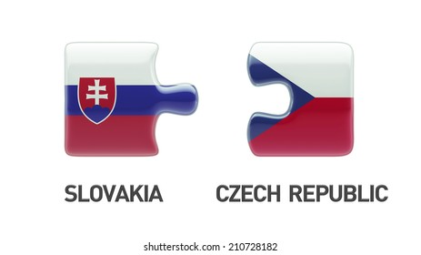 Slovakia Czech Republic High Resolution Puzzle Concept