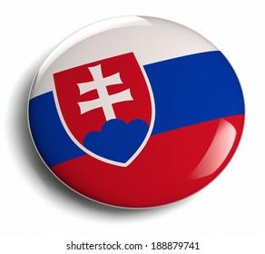 Slovakia flag design round badge.