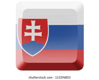 The Slovakia flag painted on  button