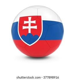 Slovakia Football - Slovakian Flag on Soccer Ball