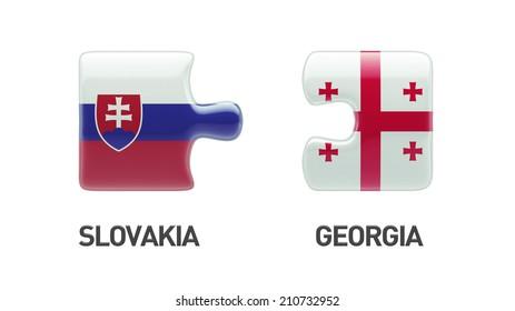 Slovakia Georgia High Resolution Puzzle Concept