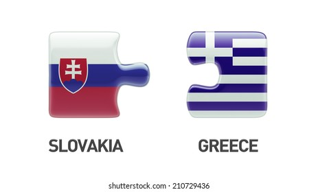 Slovakia Greece High Resolution Puzzle Concept