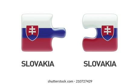Slovakia High Resolution Puzzle Concept