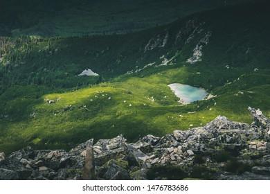 Slovakia, High Tatras – 06/27/2017. A picture represents beautiful and vivid colors of National Park High Vysoke Tatry.
