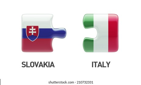 Slovakia Italy High Resolution Puzzle Concept