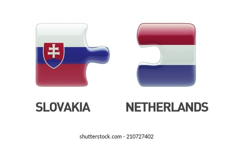 Slovakia Netherlands High Resolution Puzzle Concept