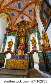 Slovakia, Red Monastery, May 21, 2017: Interior of famous Red Monastery called Cerveny Klastor in Pieniny mountains, Slovakia