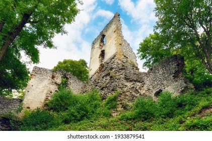 Slovakia - Ruins of castle Dobra Voda - Shutterstock ID 1933879541
