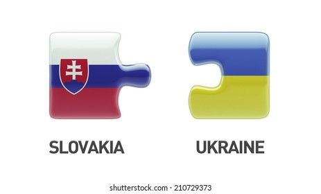 Slovakia Ukraine High Resolution Puzzle Concept