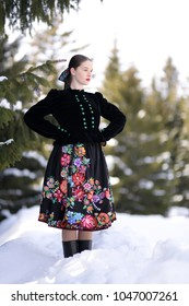 Slovakian folklore. Traditional costume.