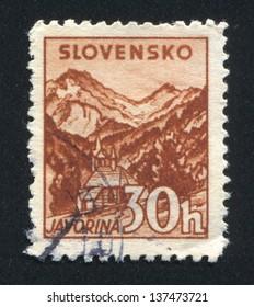 SLOVENIA - CIRCA 1940: stamp printed by Slovenia, shows Church at Javorina, circa 1940