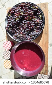Slovenia Grapes and Harvesting - a trip to Slovenia to gather grapes and learn how to make grape jelly