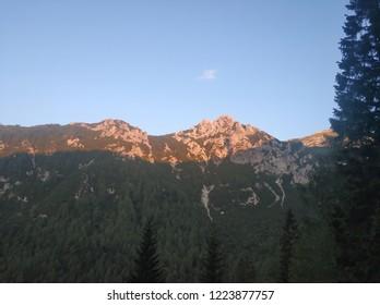 Slovenian landscape, mountains, river