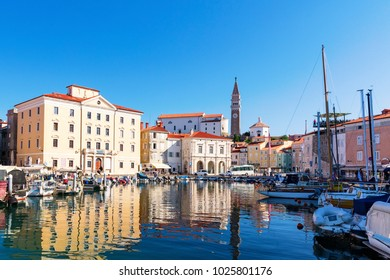 The Slovenian resort city of Piran on the Adriatic coast