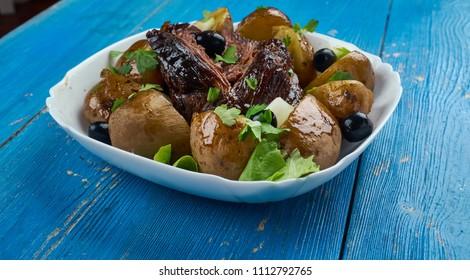 Slow Cooker Greek Lamb Kleftiko close up