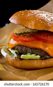 slow food cheese burger