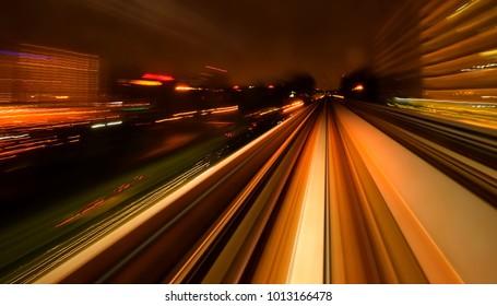 Slow speed motion of MRT way