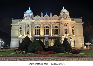 Slowacki Theatre in Krakow Old Town,Poland